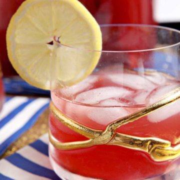 Instead of making traditional and well-loved Southern Sweet Tea, cool down this summer with naturally sweetened Cherry Lemon Tea! Made with water, three of your favorite tea bags, frozen or fresh cherries, agave nectar and freshly squeezed lemon juice, this summertime flavored tea takes little hands-on time and stores beautifully in the refrigerator for days. This bright, slightly sweet and slightly tart iced tea is the perfect refreshment to sip on a hot summer's day!