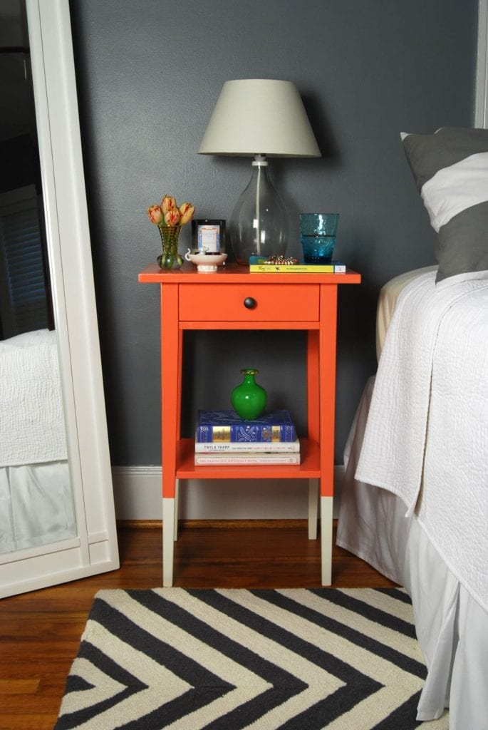 Image of a nightstand in a bedroom