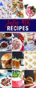 July 4th is just a few days away! Prepare for the red, white and blue holiday by browsing and gathering inspiration from these 40 delicious July 4th recipes that would be perfect to serve to friends and family this July. From cocktails to appetizers, side dishes to entrees and then desserts, these 40 recipes from The Speckled Palate and her food blogger friends are sure to be well-loved at any cookout or get-together this summer.