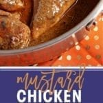 Mustard Chicken is an entree the whole family will love, and it can be on the table in less than 45 minutes. Chicken breasts are seasoned and seared, then a creamy mustard sauce is created using the pan drippings, chicken stock, milk, Dijon mustard and dried herbs. Pop the chicken back into the sauce and simmer until ready. Serve the chicken over rice and smother with the decadent mustard sauce. Enjoy with bread so you can sop up more sauce!