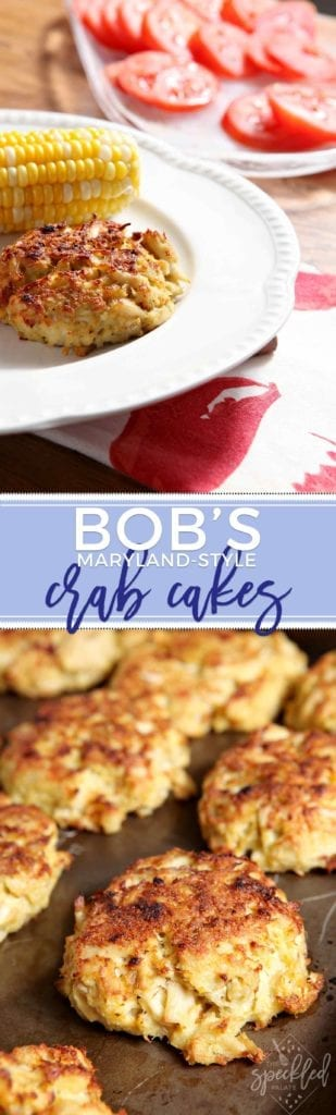Bob's Maryland-Style Crab Cakes highlight the delicateness of jumbo lump crab meat. Make these for your next get-together and serve the Maryland way! | crab cake recipe | healthier crab cakes | crab recipe | seafood recipe | appetizer recipe | Maryland-style crab cake recipe | Maryland crab cakes