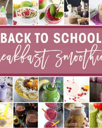 Collage of Breakfast Smoothies