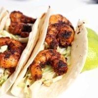 Wednesday's Dinner: Blackened Shrimp Tacos
