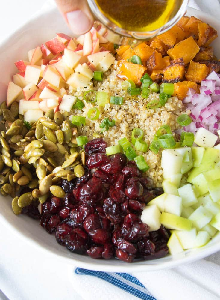 Fall Quinoa Buddha Bowl from Eating by Elaine