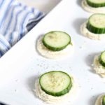 Cucumber Finger Sandwiches with Feta and Cream Cheese Spread