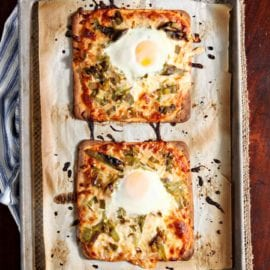 Celebrate hatch chile season by making a delicious, spicy breakfast/brunch for the whole family! Hatch Chile Breakfast Flatbread adds heat to the table. Top flatbread with homemade enchilada sauce, mozzarella cheese, roasted hatch chiles and a raw egg. The flatbread bakes quickly, then is removed and immediately sliced into. The egg yolk should run all over the flatbread (if you're into that kind of thing) and add creaminess to this peppery dish.