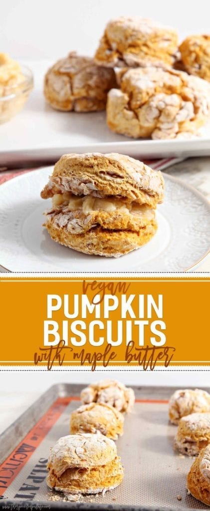Close up of baked pumpkin biscuits