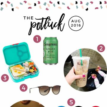 Continuing the monthly tradition, The Speckled Palate's The Potluck: August 2016 includes two different kinds of summertime drinks, a lunchbox for back-to-school, a favorite yearly tradition involving a Dallas restaurant, some shades and more! Swing by the blog today to get a full list of the things I adored during the month of August.