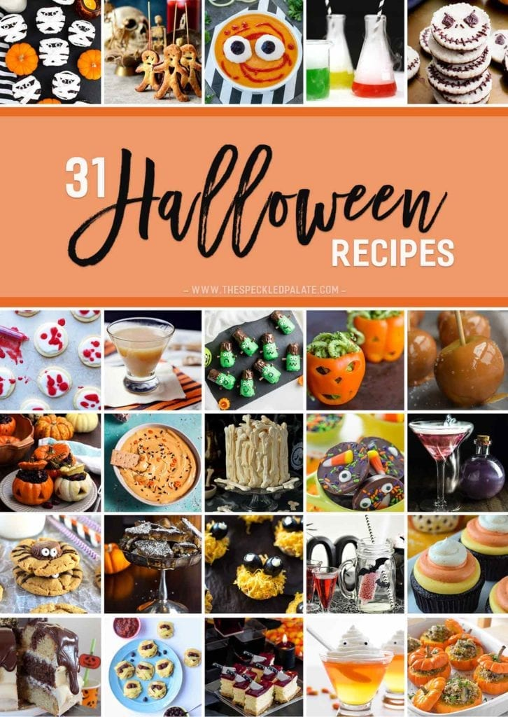 Our trick-or-treat bags are empty, our costumes are ready, and HALLOWEEN is around the corner! Let's celebrate this spooky holiday with 31 Halloween recipes we can make at home! But this haunted holiday isn't just for candy anymore! This recipe round-up includes dessert recipes to cook up, as well as savory dishes and drinks for the whole family! We've definitely got to try some of these Halloween recipes this year! Which one is your favorite?