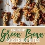 Want to make the ULTIMATE Friendsgiving appetizer? Crunchy Green Bean Casserole Bites with a Creamy Dipping Gravy is the recipe you're looking for! Transform traditional green bean casserole ingredients - Del Monte¨ Blue Lake¨ Cut Green Beans, Campbell's¨ Cream of Mushroom Soup and Swanson¨ Chicken broth - into a handheld appetizer and dipping gravy that are sure to wow. Ready in less than 50 minutes, these easy bites are scrumptious! #ad #GiveThanksBeFull