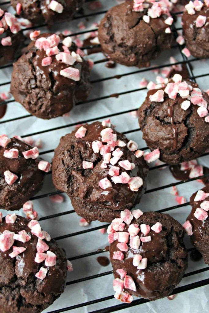 Double Chocolate Peppermint Cookies from The Secret Ingredient Is