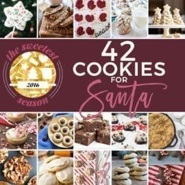 The holiday season is upon us! Celebrate with these 42 cookie recipes that are perfect for Santa Claus, family members, friends, neighbors, teachers and more! The Sweetest Season Cookie Exchange 2016, a yearly celebration of baked goods, was a success in its fifth year, boasting 42 new recipes from more than 30 international bloggers. We should bake them ALL this season! Which one is your favorite?