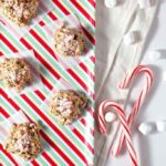 No Bake Peppermint Bark Cookies