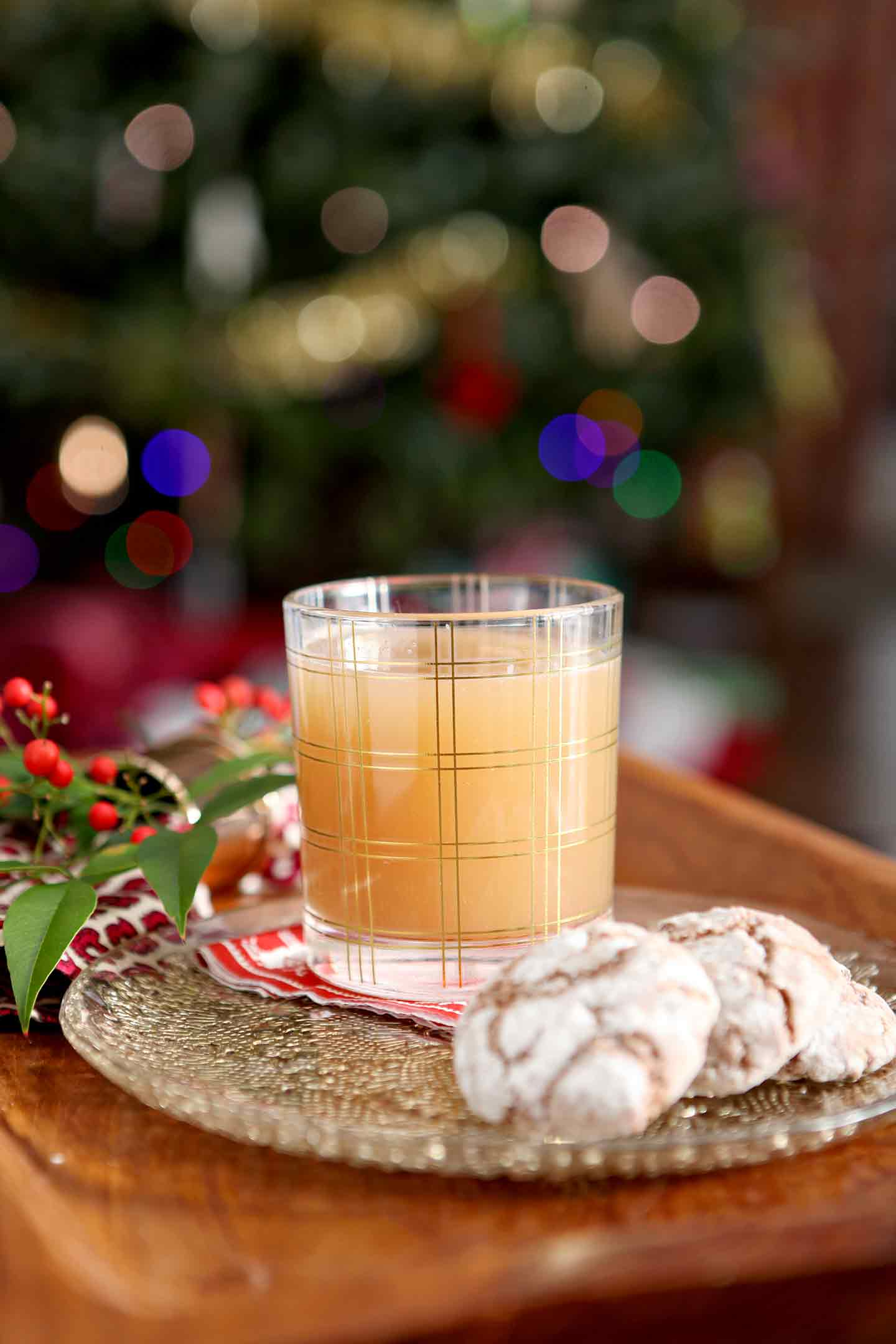 Instead of milk and cookies for Santa, leave him a glass of Vegan Bourbon Pecan Milk Punch this Christmas. This twist on the classic New Orleans cocktail is VEGAN. Homemade pecan milk, made with pecans, rice, cinnamon and maple syrup, serves as the base of the drink. Combine the pecan milk with bourbon, amaretto, maple syrup and a little vanilla extract before shaking to combine. Serve cold with a favorite cookie throughout the chilly winter months.