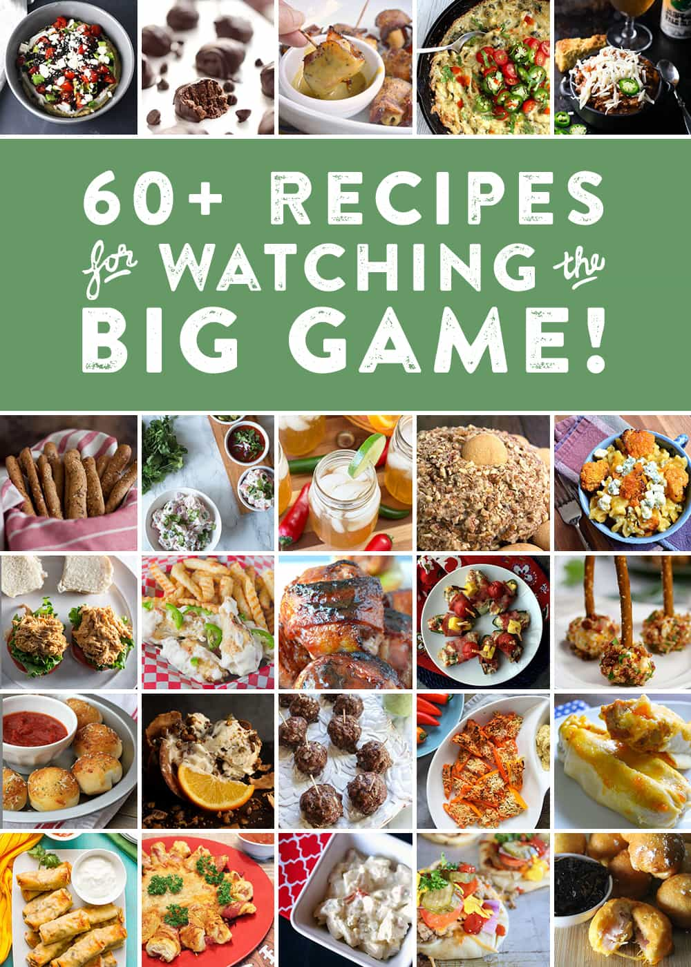 With the football season coming to a close, it's time to start thinking about Big Game parties and inevitably, the recipes you will make and bring to yours! In preparation, I've teamed up with my football blogger friends in one final collaboration to bring you some brilliant Big Game recipe ideas.