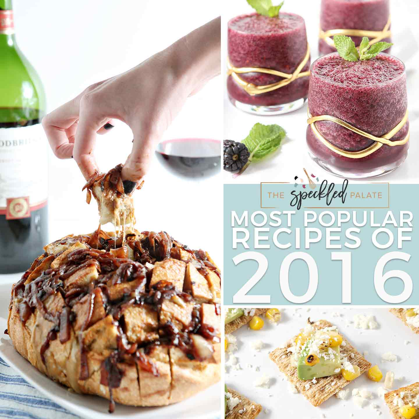 A look back at the last 366 days, The Best of The Speckled Palate 2016 remembers the most popular posts of the year and looks forward to 2017. What was your favorite recipe of 2016? What would you like to see in 2017? Tell me today, and be sure to come back soon for new, exciting recipes to kick off this new year.