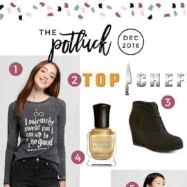 Continuing the monthly tradition, The Speckled Palate's The Potluck: December 2016 includes a few new favorite clothing items, a pair of shoes, a newly released contemporary romance, the long-awaited return of a favorite television show and more. Swing by the blog today to get a full list of the things I adored during the month of December.