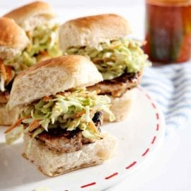 Today calls for BBQ Chicken Burger Bites with Avocado Slaw and a Spicy Vinegar Sauce. These quick chicken sliders make a delicious appetizer or meal. Featuring spicy BBQ sauce and BBQ rub, the poultry patties mix up easily and cook quickly. Top with homemade avocado slaw and a spicy/sweet vinegar sauce, and these burger bites are hard to beat. Cook up a batch for a crowd, whether you're hosting a party, a holiday get-together or a weeknight meal! #ad #TreatingWithNutrish