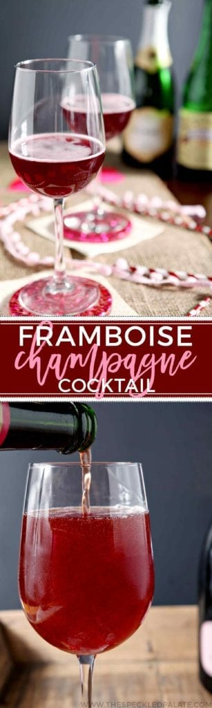 Pop the bubbly and mix up a delightful Framboise Champagne Cocktail tonight! This twist on classic beer cocktail features two ingredients: Lindeman's Framboise Lambic, which is a raspberry beer, and champagne. The champagne mellows the sweetness of the raspberry lambic while adding bubbly goodness. This cocktail is perfect for Valentine's Day, New Year's Eve, July 4 and any regular 'ol weeknight that calls for a little bubbly. Make one today!