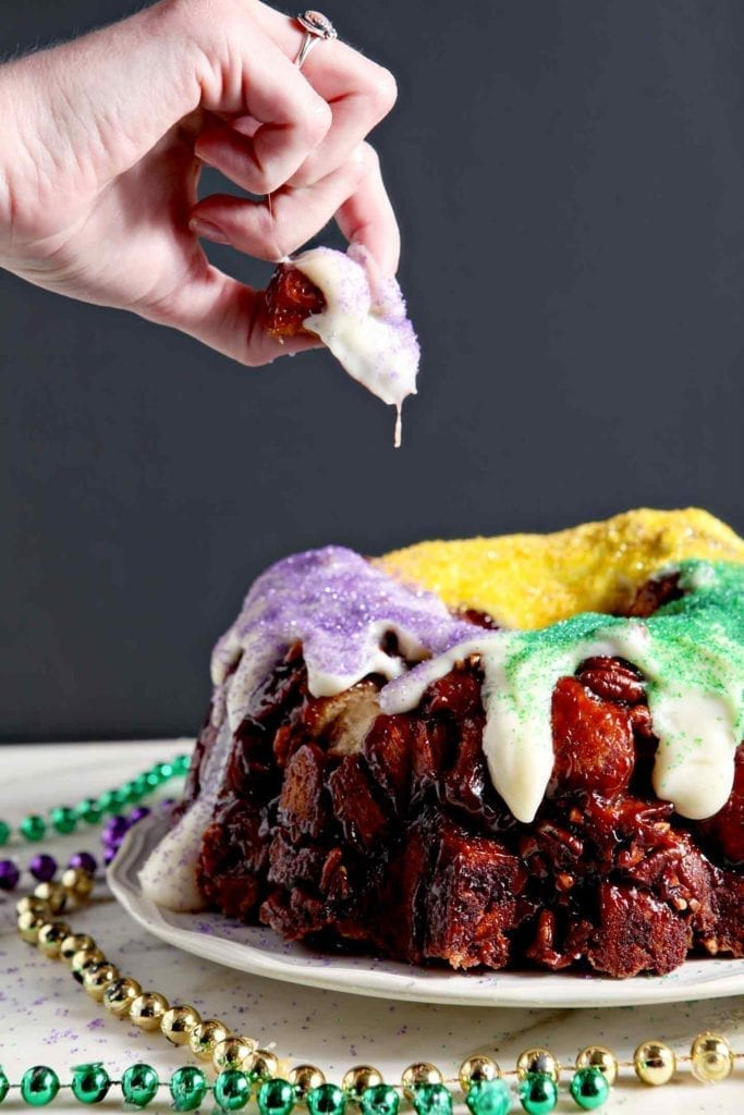 the kitchen with a Praline Pull-Apart King Cake! This quick king cake ...