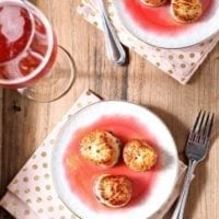 Seared Scallops with Raspberry Gastrique