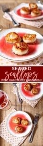Elevate your romantic, at-home date night by serving Seared Scallops with Raspberry Gastrique. This entree looks and sounds fancy, but is incredibly easy to make. The gastrique is a simple sweet-and-sour sauce, made in this recipe by reducing raspberry preserves, vinegar and sugar in a saucepan. Sear the scallops over high heat, and serve over the reduced tart-and-sweet raspberry sauce. Make this easy but fancy romantic dish for date night!
