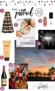Continuing the monthly tradition, The Speckled Palate's The Potluck: January 2017 includes a new favorite skirt, a fun food-centric documentary, a surprisingly heartwrenching cover, a few beauty products, exploring Dallas and nature... and more. Swing by the blog today to get a full list of the things I adored during the month of January.