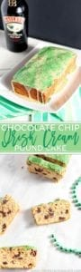 Show up for St. Patrick's Day or BRUNCH with Chocolate Chip Irish Cream Pound Cake! This cake, made with Irish Cream, is studded with dark chocolate chips.