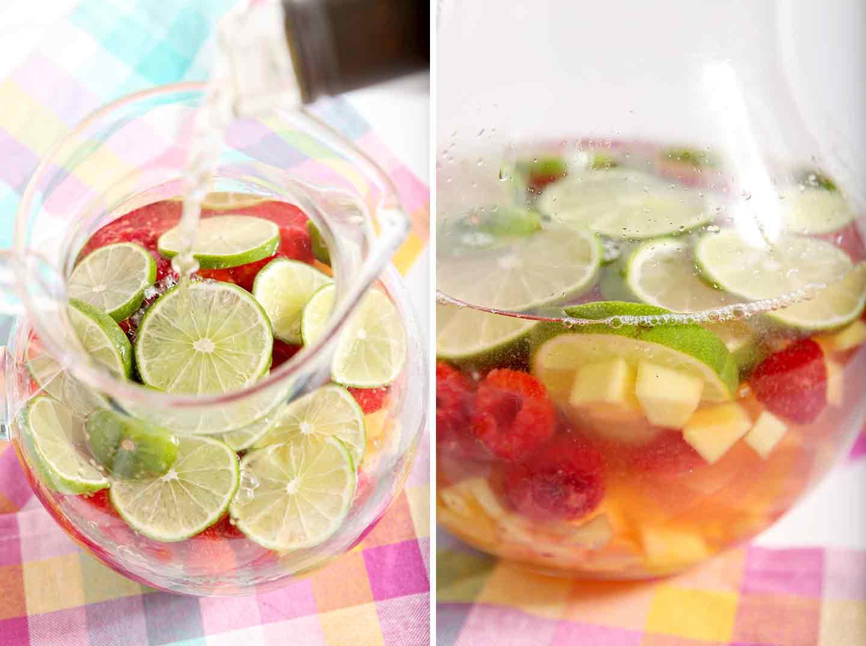 Raspberry Mango Spring Sangria sings of springtime flavors! Gather ...