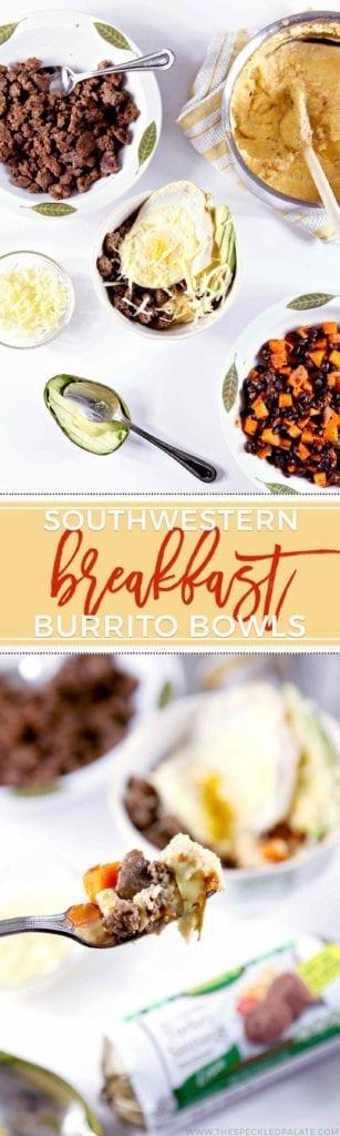 Ingredients for Southwestern Breakfast Burrito Bowl
