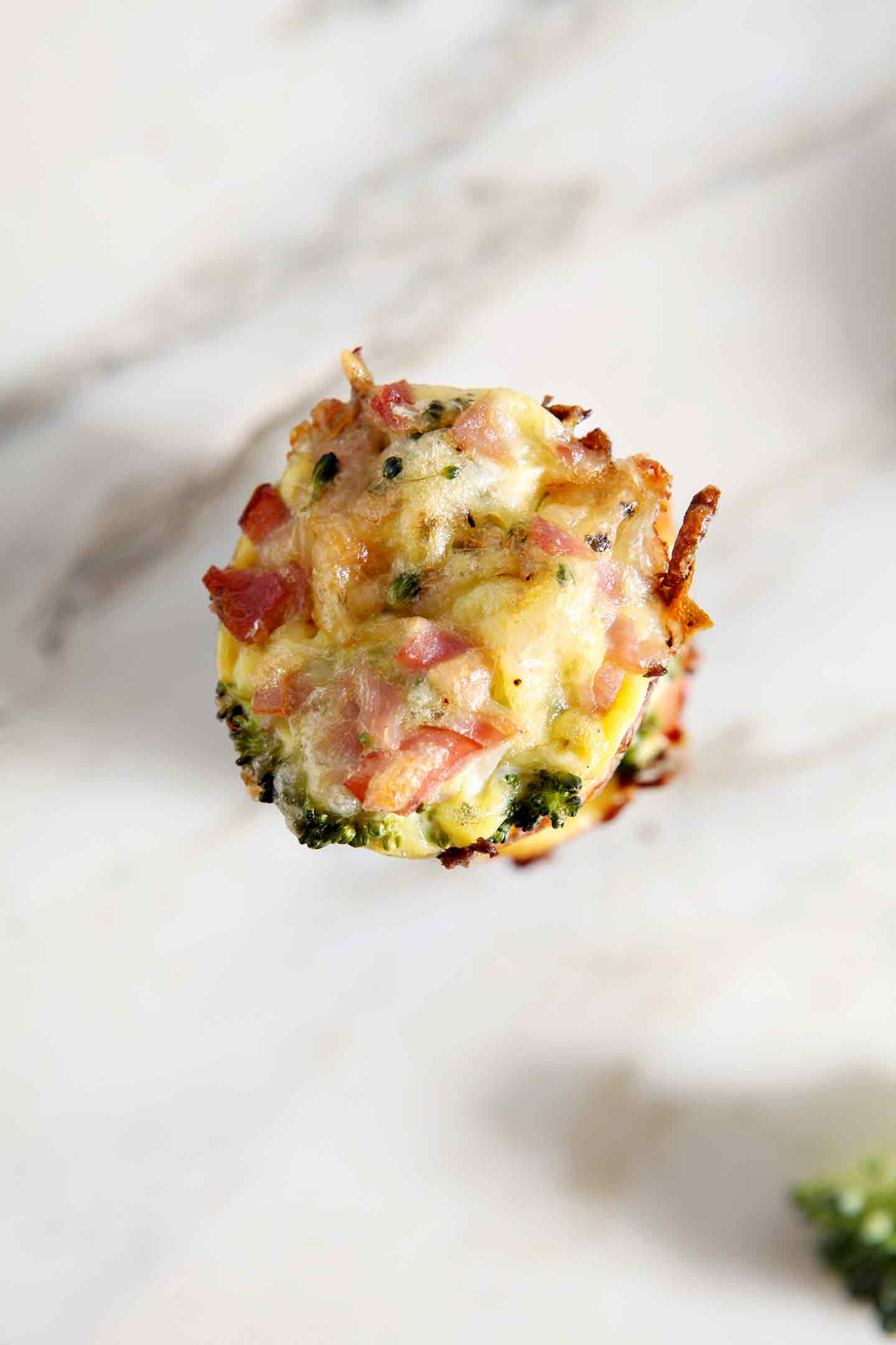 Serve Gluten Free Broccoli Quiche Lorraine Bites as a quick, easy breakfast! Serve these to your mom on Mother's Day, at a springtime brunch or anytime! #ad #recipe #brunch