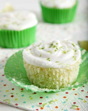 margarita cupcake in a green paper
