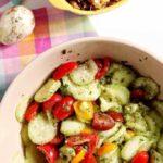 Mediterranean Cucumber Salad with Heirloom Tomatoes and Lemon Vinaigrette