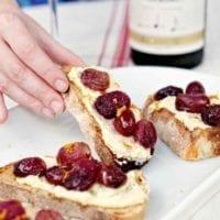 Friday's Dinner: Roasted Grape Bruschetta with Whipped Feta