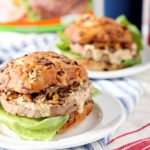 Louisiana Cajun Turkey Burgers with Étouffée Relish and Creamy Cajun Sauce