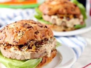 Louisiana Cajun Turkey Burgers with Étouffée Relish and Creamy Cajun Sauce