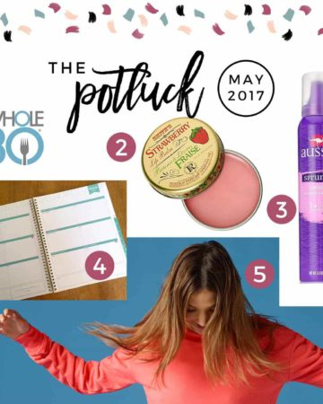 Continuing the monthly tradition, The Potluck: May 2017 includes a hair product, a movie that I can't stop singing songs from and more.