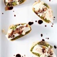Thursday's Dinner:Tuna Pesto Crostini