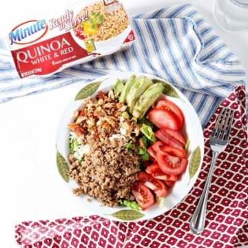 Elevate your next meal by whipping up a Summer Quinoa Salad! @minutericeUS Ready to Serve White & Red Quinoa serves as the star of this summertime entree salad. #ad