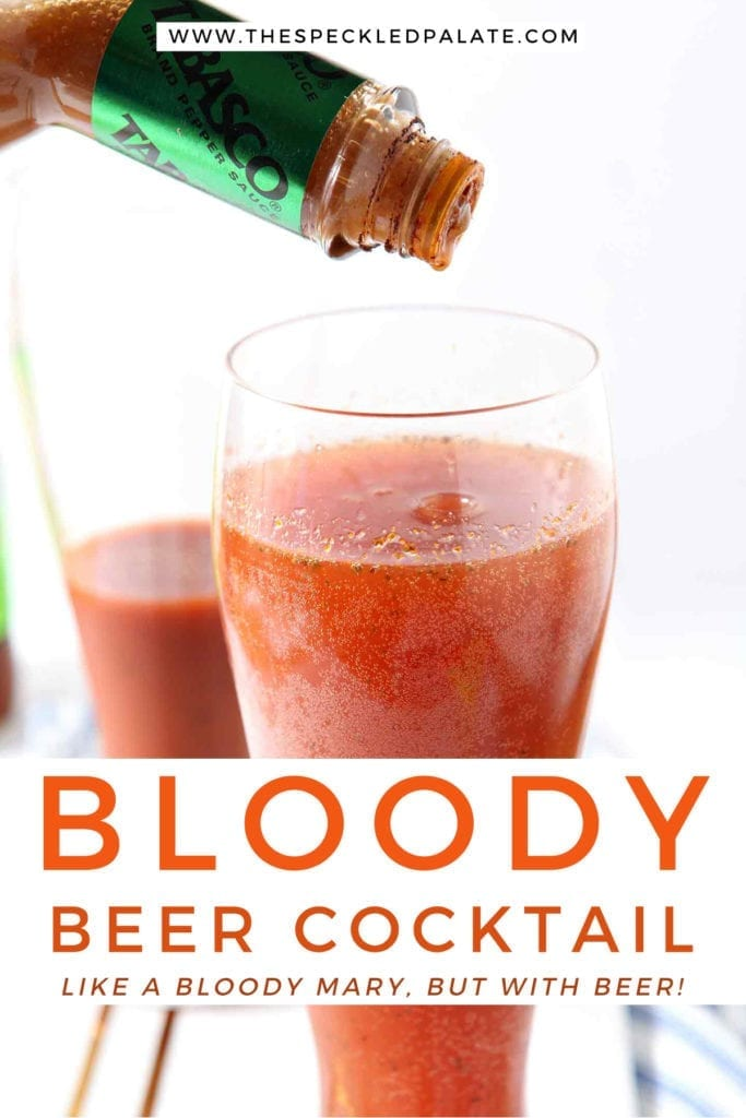 Tabasco is sprinkled into a drink, with Pinterest text