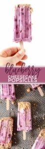 AD   Step up your summertime dessert game by making Blueberry Cheesecake Popsicles! The whole family is going to love these creamy, blueberry-studded popsicles!   Easy Popsicle   Yogurt Popsicle   Blueberry Popsicle   Summer Dessert   Blueberry Dessert