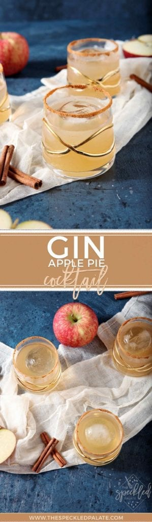 Apple Pie Cocktail | Fall Cocktail | Apple Drink | Gin Drink | At Home Cocktail | Cocktail Party Inspiration | Fall Party Inspiration | Dairy Free Drink | Vegan Drink | Vegan Cocktail
