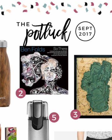 Continuing the monthly tradition, The Speckled Palate's The Potluck: September 2017 includes a new favorite pair of pants, some travel, a piece of art, music and more! Swing by the blog today to get a full list of the things I adored during the month of September.