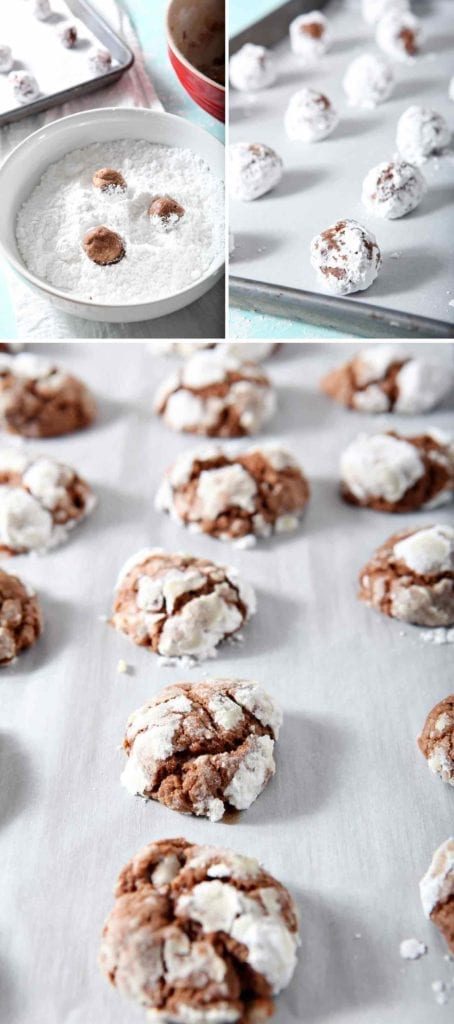 Chocolate Crinkle Cookie Recipe | Christmas Cookies | Christmas Cookie Recipe | Peppermint Cookies | Chocolate Christmas Cookies | Holiday Baking Recipes | Easy Christmas Cookies | Christmas Cookies | Recipes to Make with Kids | Christmas Cookies for Kids | #sweetestseasoncookies