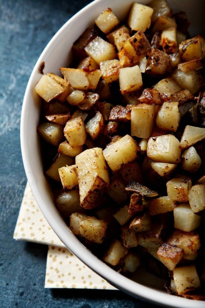 Homemade Home Fries | Home Fry Recipe | Breakfast Potatoes | Thanksgiving Potatoes | Thanksgiving Brunch | Christmas Brunch | Easter Brunch | Holiday Brunch | Holiday Breakfast