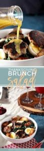 Thanksgiving Brunch | Thanksgiving Salad | Thanksgiving Breakfast | Thanksgiving Salad Recipe | Brunch Salad | Sausage Salad | Winter Kale Salad | Easy Brunch Salad | Brunch Salad Recipe