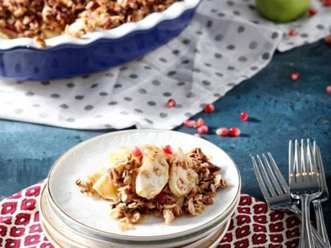 #AD | Apple Crisp | Breakfast Apple Crisp | No Sugar Added Breakfast | Vegan Breakfast | Vegetarian Breakfast | Sweet Breakfast | At-Home Brunch | Fall Brunch | Thankgiving Brunch | Thanksgiving Baked Good | Fall Breakfast | Breakfast Recipe | Easy Crisp | Easy Crumble | Easy Apple Sweet