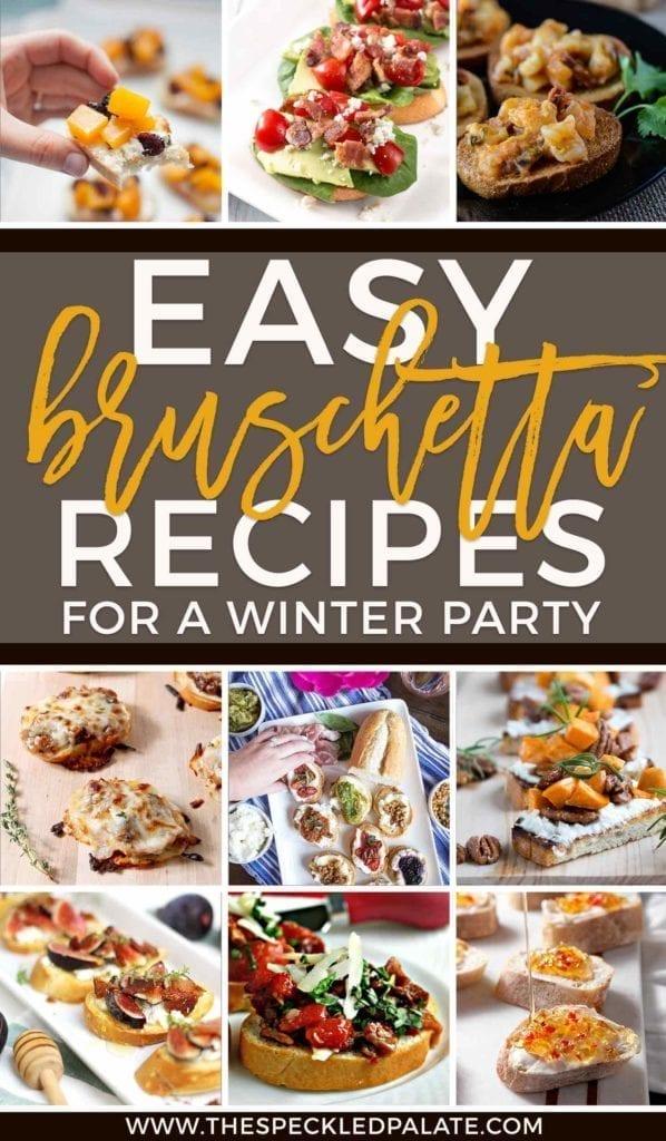 Winter Appetizer | Bruschetta Recipes | Wintertime Bruschetta | Winter Bruschetta | Finger Foods | Easy Entertaining | Holiday Appetizer | Christmas Appetizer | New Year's Eve Appetizer | New Year's Day Appetizer