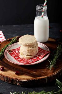 Shortbread Cookie Recipe | Christmas Cookies | Christmas Cookie Recipe | Rosemary Cookies | Chocolate Christmas Cookies | Holiday Baking Recipes | Easy Shortbread Cookies | Christmas Cookies | Unique Shortbread Cookies | #IncredibleBulkBinTreatExchange | #ad