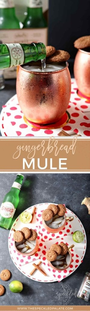 Gingerbread Mule in copper cup on red polka dot napkin
